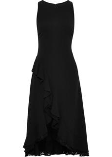 Zac Zac Posen Woman Janice Lace-trimmed Ruffled Crepe Midi Dress Black