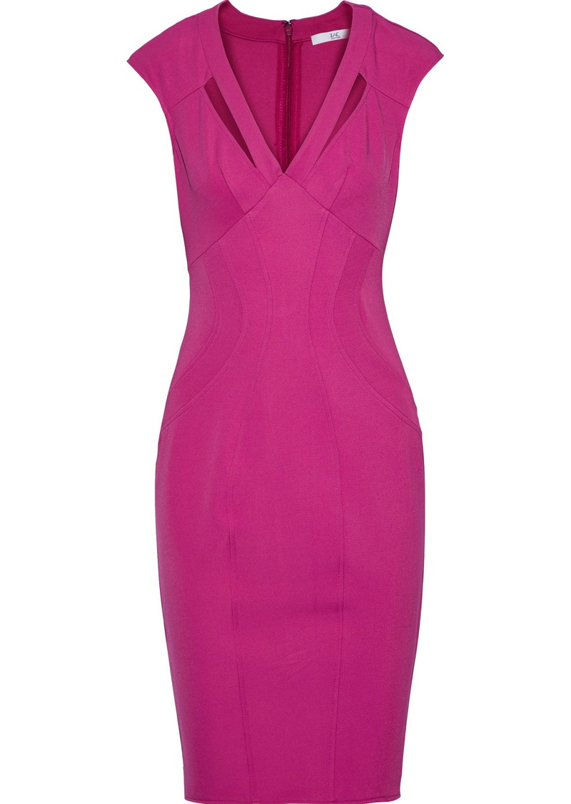 Zac Zac Posen Woman Joni Cutout Stretch-twill Dress Magenta