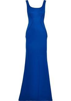 Zac Zac Posen Woman Leah Open-back Ponte Gown Blue