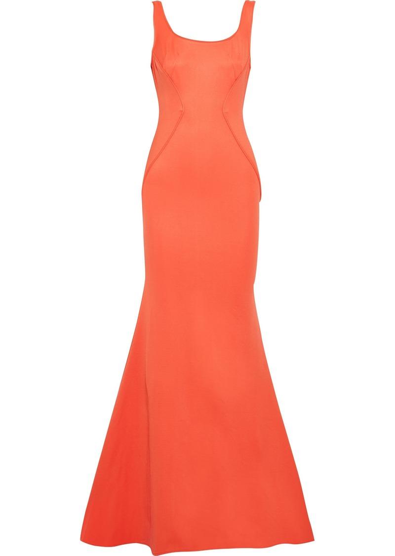 Zac Zac Posen Woman Leah Open-back Ponte Gown Orange