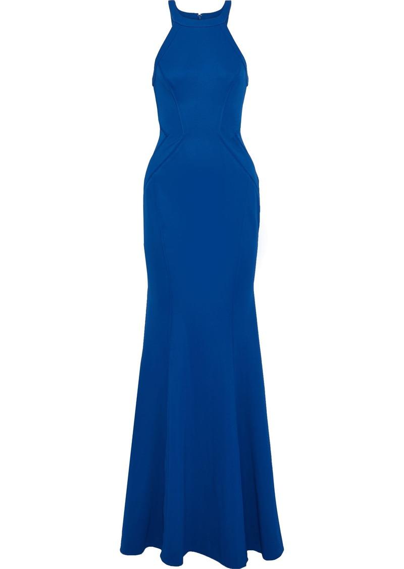 Zac Zac Posen Woman Lisa Fluted Ponte Gown Blue