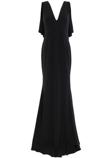 Zac Zac Posen Woman Ruffled Crepe Gown Black