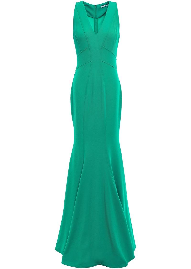 Zac Zac Posen Woman Serena Fluted Stretch-twill Gown Jade