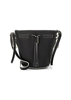 ZAC Zac Posen Women's Belay Mini Leather Bucket Bag - Black