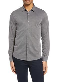 Zachary Prell Claxton Button-Up Knit Shirt