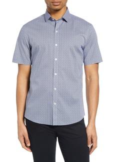 Zachary Prell Geo Print Short Sleeve Shirt