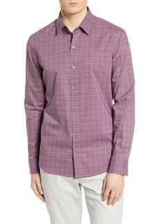 Zachary Prell Plaid Regular Fit Long Sleeve Shirt