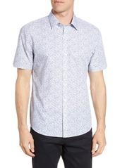 Zachary Prell Wilkins Regular Fit Floral Short Sleeve Button-Up Shirt