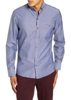 Zachary Prell Abcede Dobby Button-Down Oxford Shirt