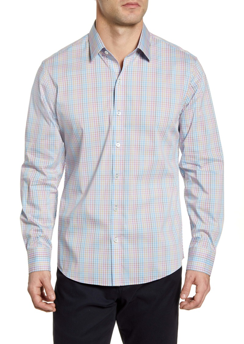 Zachary Prell Alesi Regular Fit Check Button-Up Performance Shirt