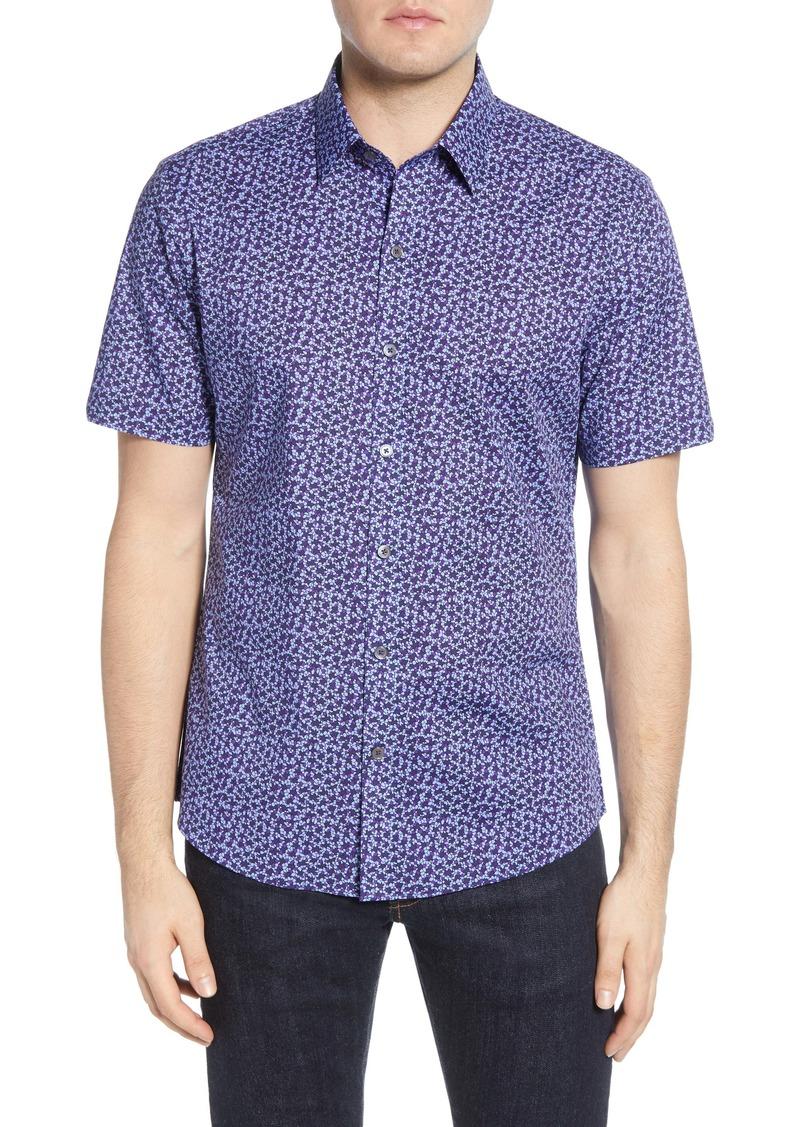 Zachary Prell Bronwen Regular Fit Short Sleeve Button-Up Sport Shirt