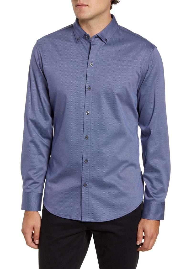 Zachary Prell Carr Regular Fit Dobby Button-Down Shirt
