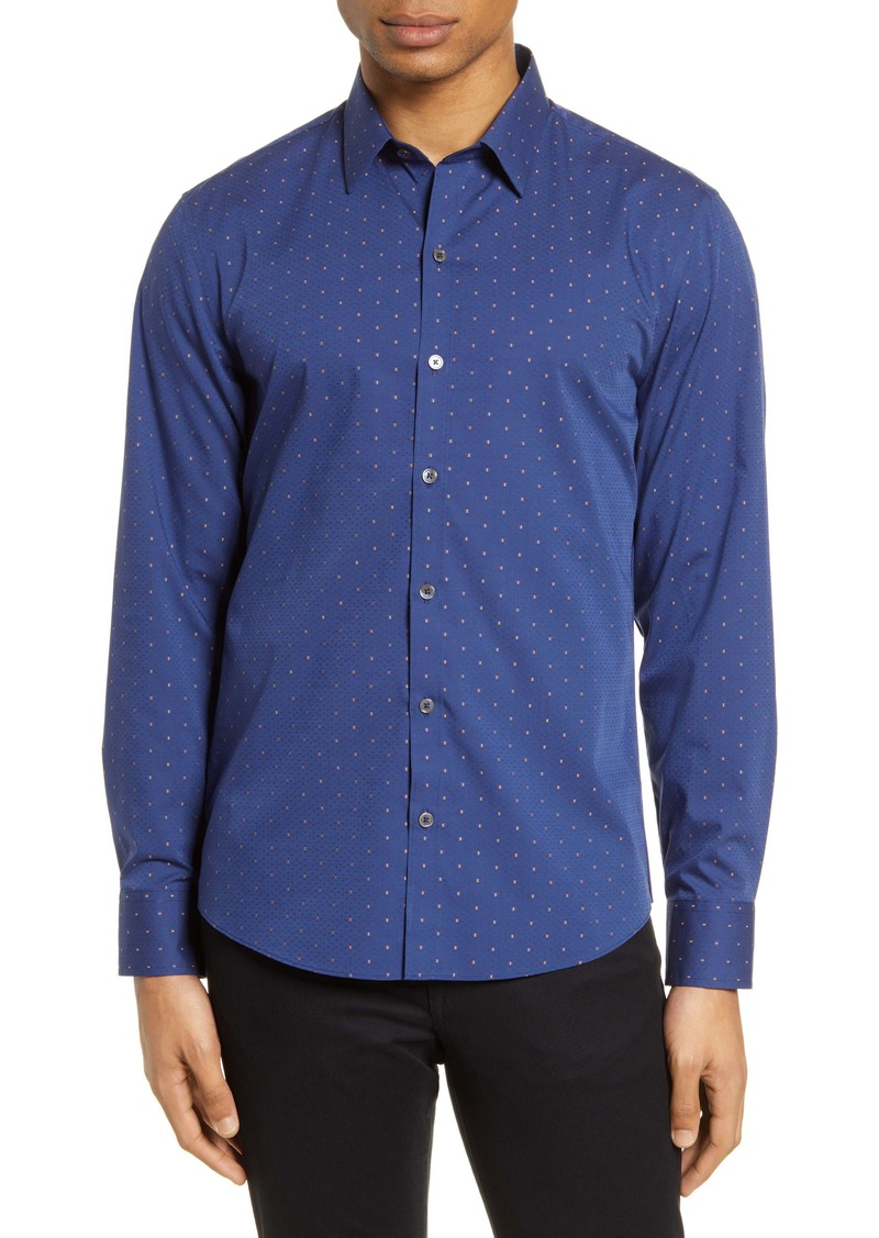 Zachary Prell Christian Classic Fit Dobby Button-Up Shirt