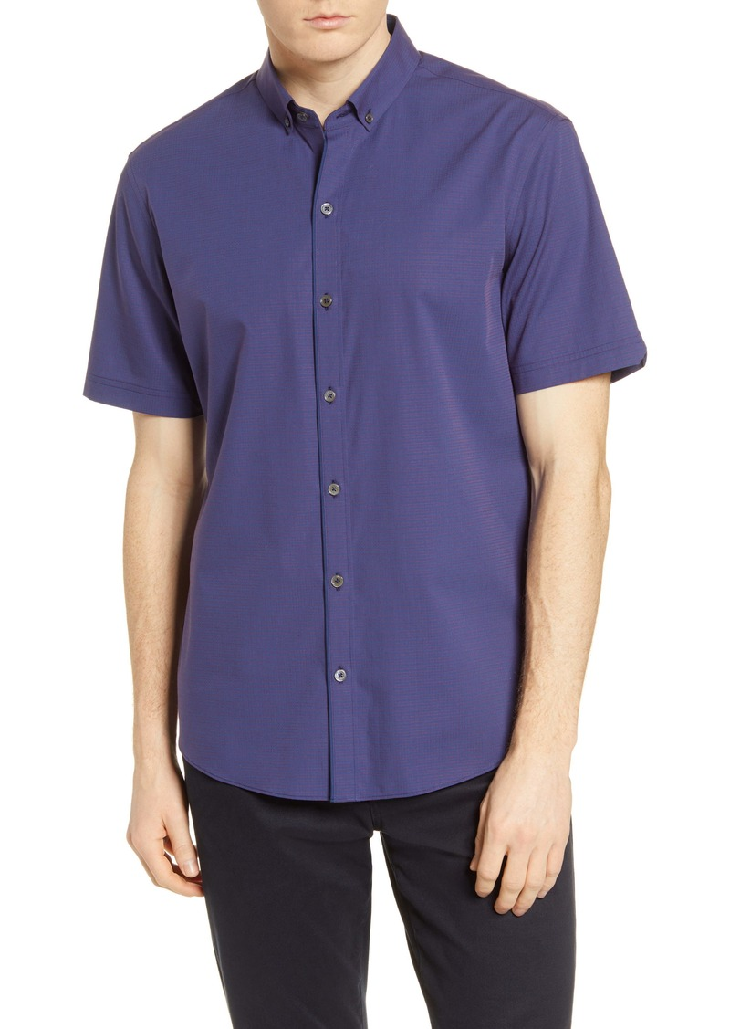 Zachary Prell Classic Fit Dobby Short Sleeve Button-Down Shirt