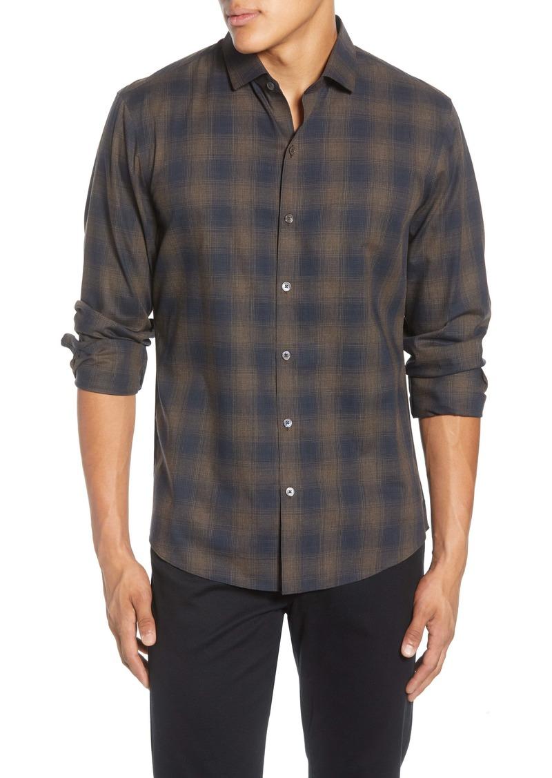 Zachary Prell Cobo Regular Fit Plaid Button-Up Shirt