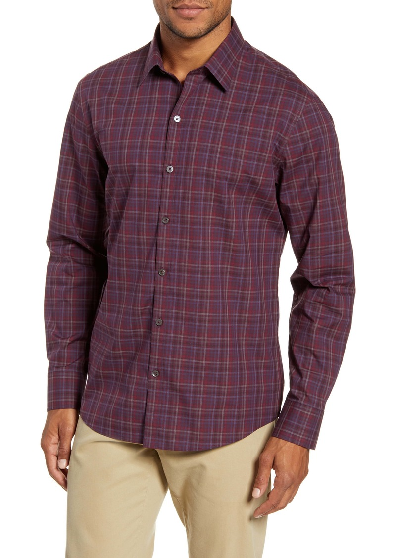 Zachary Prell Dimich Regular Fit Plaid Button-Up Shirt