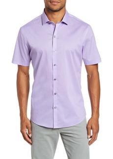 Zachary Prell Ehlinger Regular Fit Short Sleeve Button-Up Sport Shirt
