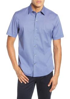 Zachary Prell Ertz Regular Fit Short Sleeve Stretch Button-Up Sport Shirt