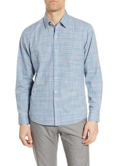 Zachary Prell Frank Space Dye Button-Up Shirt