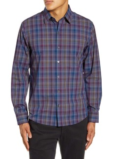 Zachary Prell Kong Regular Fit Plaid Button-Up Shirt