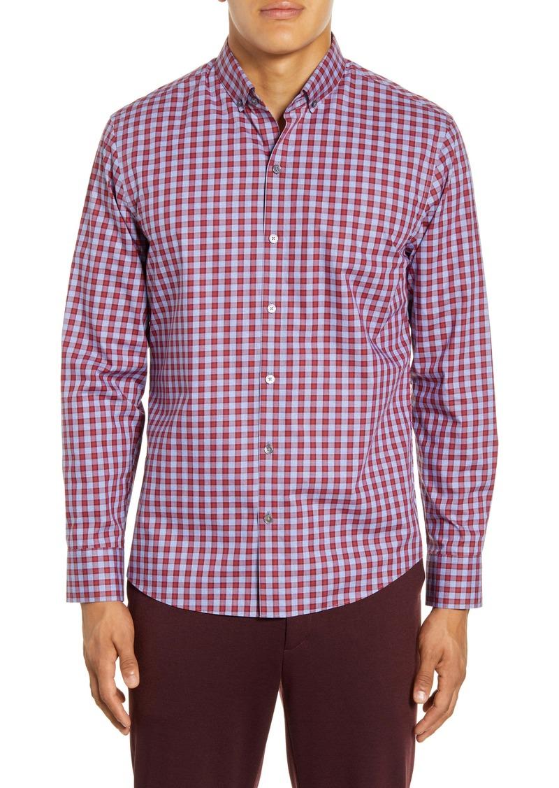 Zachary Prell Lee Regular Fit Check Button-Down Shirt