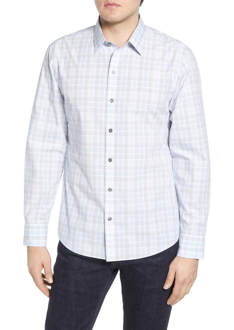 Zachary Prell Limin Regular Fit Plaid Button-Up Sport Shirt