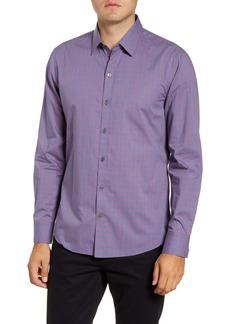 Zachary Prell Middler Regular Fit Textured Check Button-Up Shirt