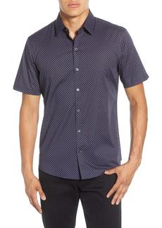Zachary Prell Miley Regular Fit Short Sleeve Button-Up Stretch Cotton Shirt