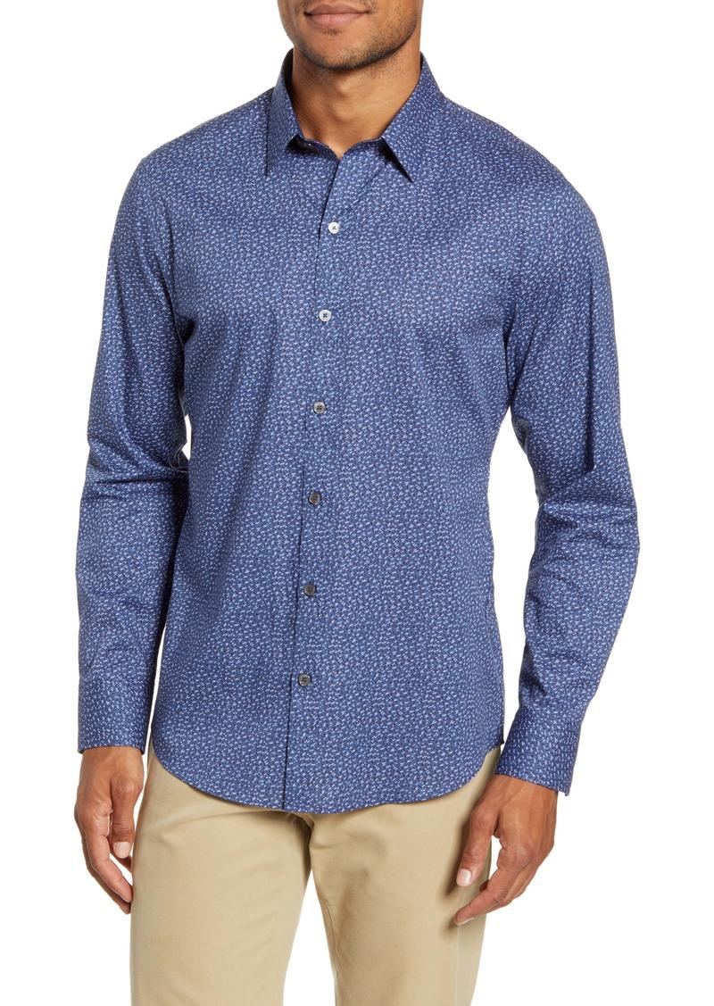 Zachary Prell Nhien Regular Fit Print Button-Up Shirt