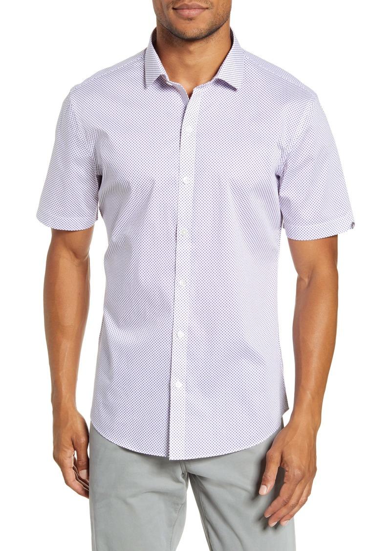 Zachary Prell Prescott Regular Fit Short Sleeve Button-Up Sport Shirt