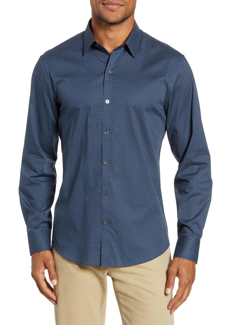 Zachary Prell Reimann Regular Fit Stretch Button-Up Sport Shirt