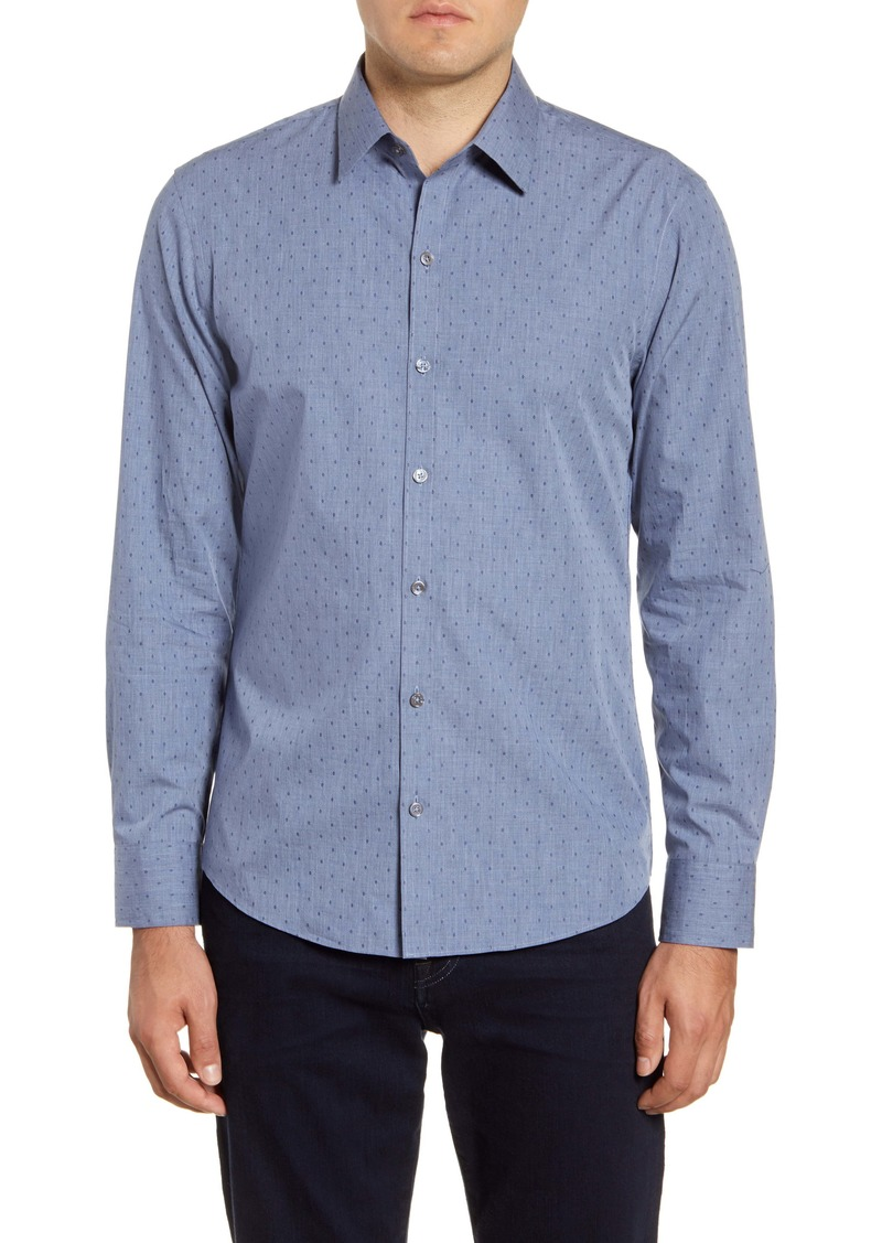 Zachary Prell Ricketts Regular Fit Print Button-Up Shirt