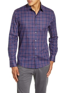 Zachary Prell Rief Regular Fit Plaid Button-Up Shirt