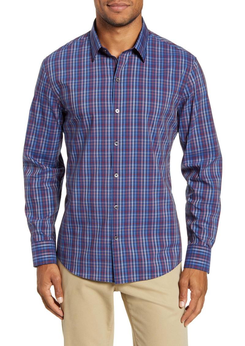 Zachary Prell Yacubi Regular Fit Plaid Button-Up Shirt