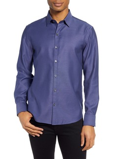 Zachary Prell Yager Micro Print Button-Up Shirt