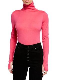 Zadig & Voltaire Beth Mock-Neck Long-Sleeve Bodysuit