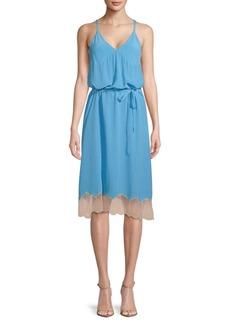 Zadig & Voltaire Cage V-Neck Silk Dress