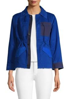 Zadig & Voltaire Colorblock Frayed Jacket