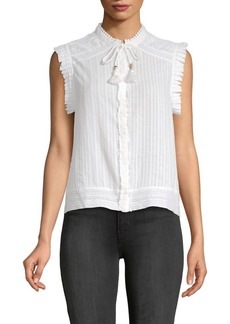 Zadig & Voltaire Cory Sleeveless Cotton Top