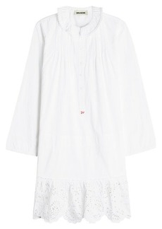 Zadig & Voltaire Cotton Dress with Broderie Anglaise