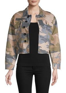 Zadig & Voltaire Cropped Camo Jacket