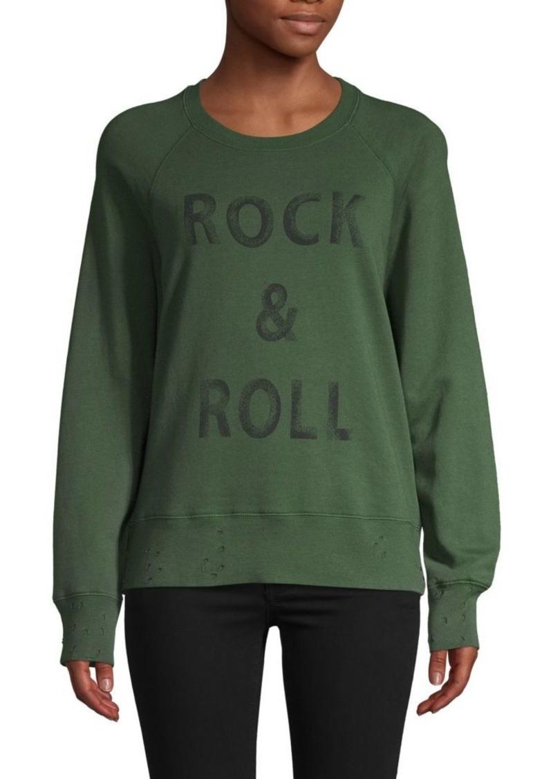 Zadig & Voltaire Distressed Graphic Sweatshirt