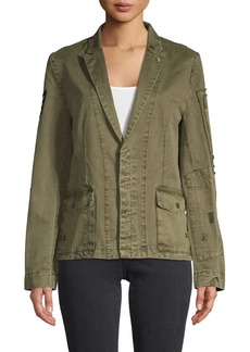Zadig & Voltaire Embellished Cotton Jacket