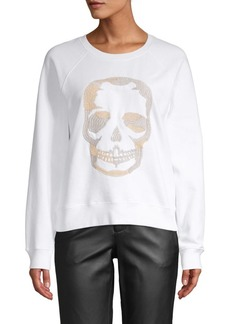 Zadig & Voltaire Embroidered Skull Cotton Sweater