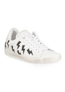 Zadig & Voltaire Flash Low-Top Leather Lightning Sneakers
