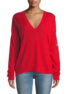 Zadig & Voltaire Happy Merino Wool V-Neck Sweater