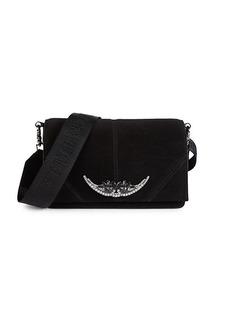 Zadig & Voltaire Jeweled Suede Mini Crossbody Bag