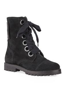 Zadig & Voltaire Joe Crystal-Trimmed Suede Combat Boots