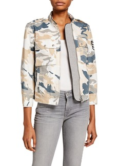 Zadig & Voltaire Kavy Zip-Front Camo-Print Jacket