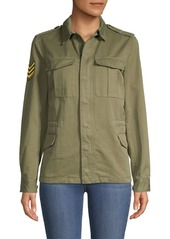 Zadig & Voltaire Kayak Butterfly Graphic Military Jacket